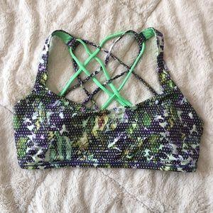 [lululemon] strappy sports bra